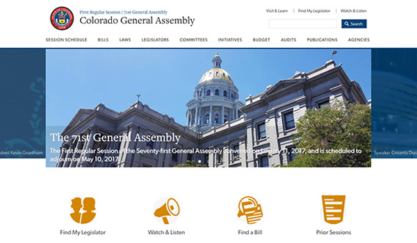 Colorado General Assembly screenshot