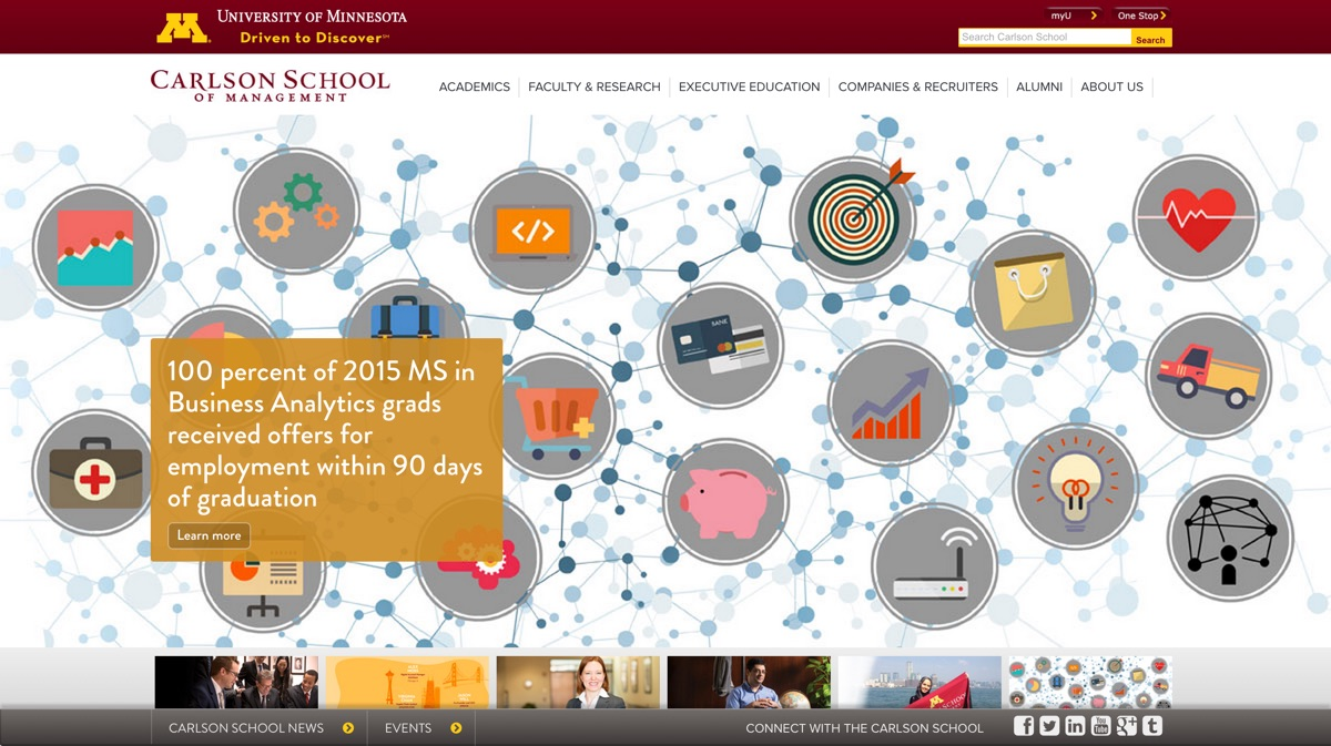 UMN Carlson School of Management screenshot
