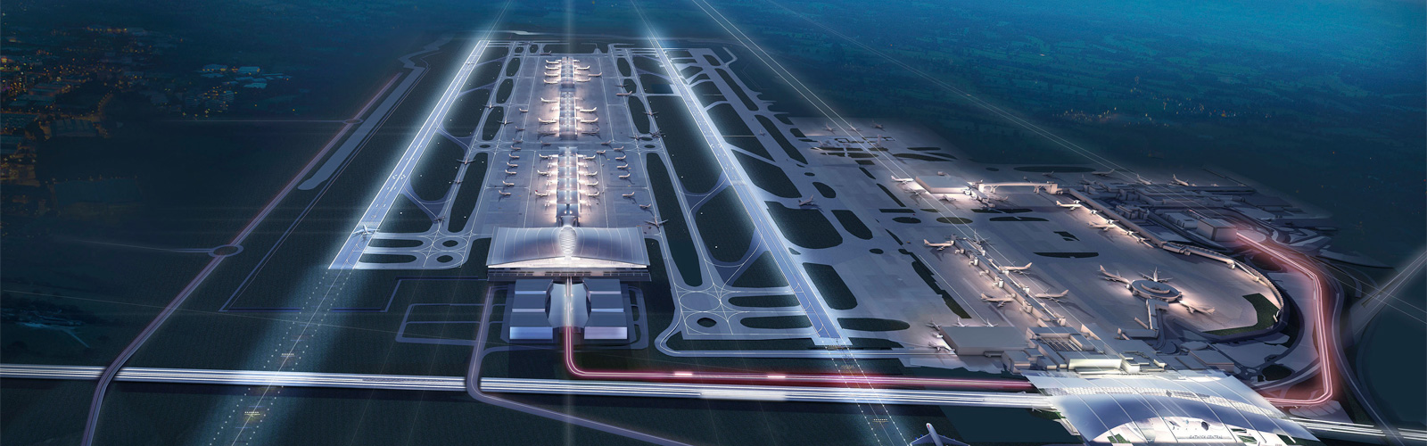 CGI image of Gatwick with 2nd runway
