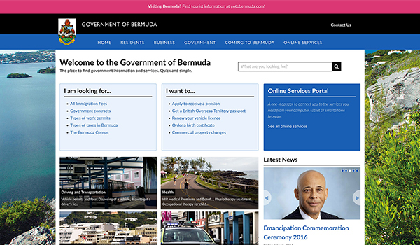 Government of Bermuda Screenshot