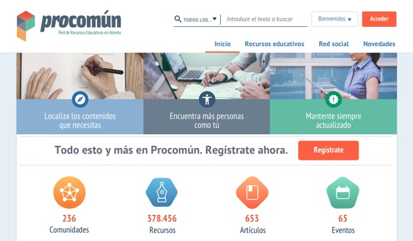 Procomún screenshot