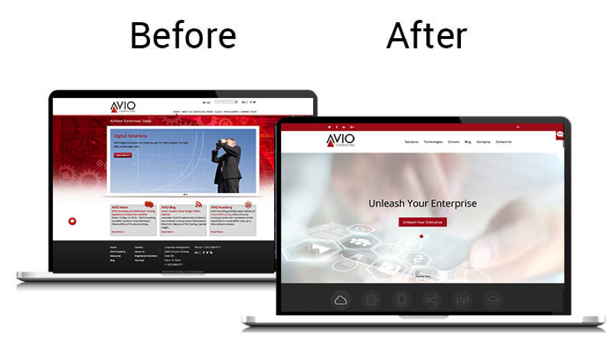before and after Avio Consulting