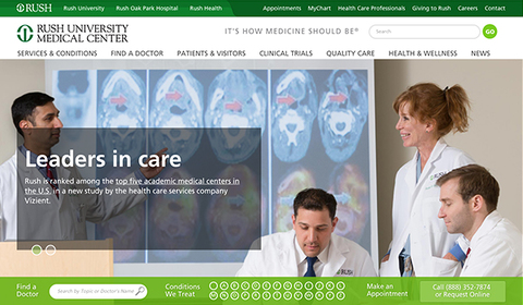 Rush University Medical Center screenshot