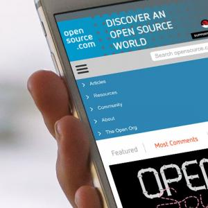 Opensource.com displayed on a smartphone screen